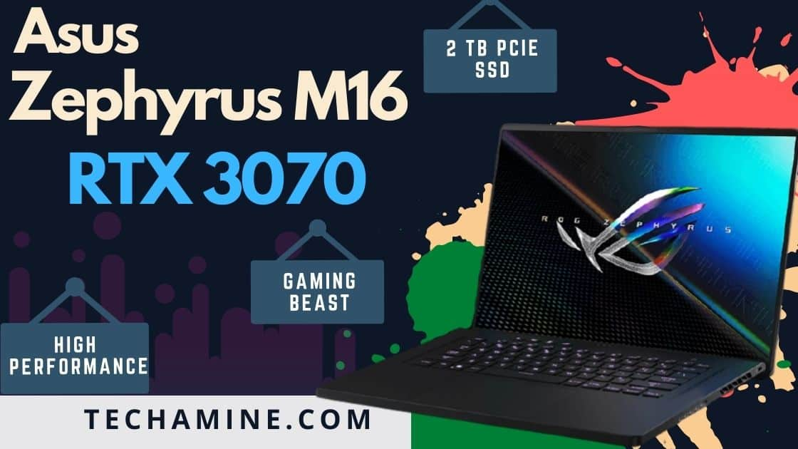ASUS Zephyrus m16 with rtx 3070